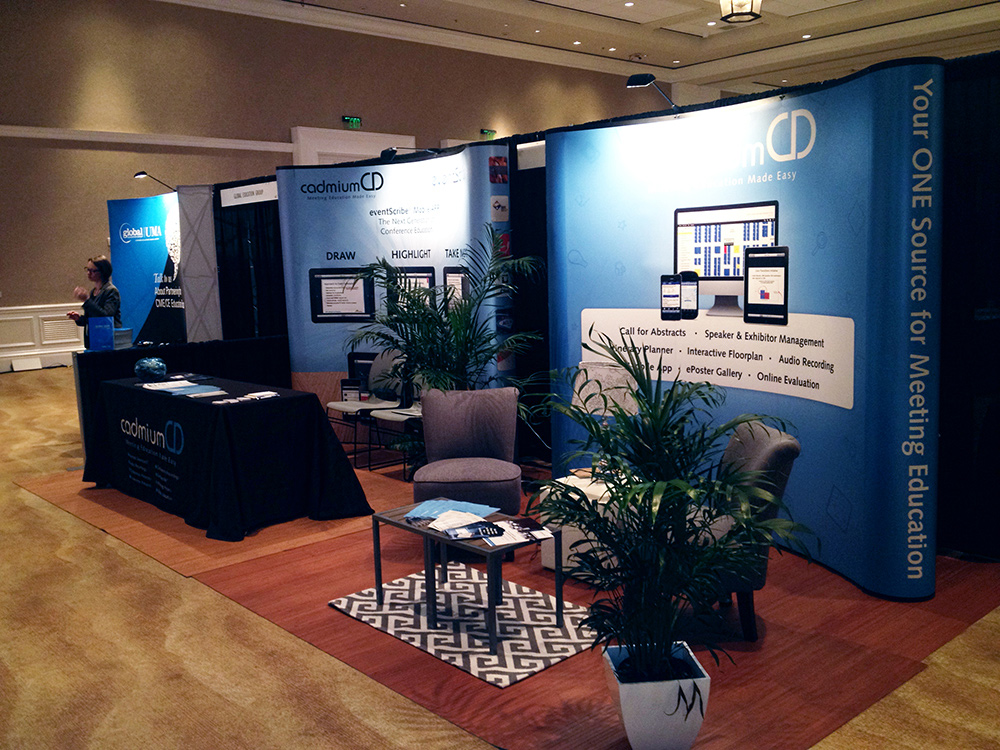 When things seemed to be going wrong at the conference, the CadmiumCD team tapped into their creative insight and built a expo booth design that was anything but empty.