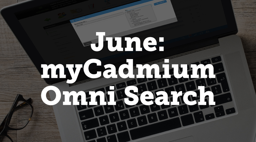 Linked on the blue footer on all myCadmium pages, Omni Search allows you to quickly search for a word within many categories, such as authors, submissions, and abstracts.
