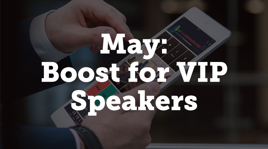The AUA Annual Meeting used another modification to Boost this past May, which allowed them to tag specific users as VIP speakers.