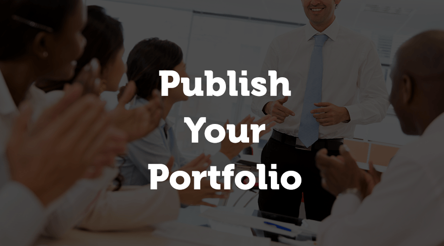 If you haven't yet thought about this, pledge to publish your year-end portfolio at the end of 2018.