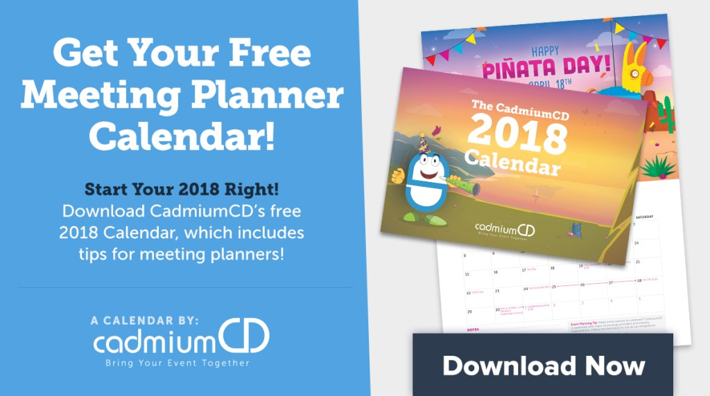 Download the 2018 CadmiumCD Calendarto keep track of all your resolutions and events this year