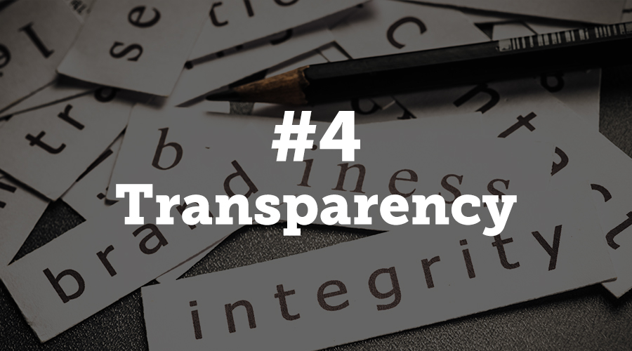 Event managers should take note that transparency in practices, policies and leadership will win in the long run. Take a deep look at your organization and work to weed out hypocrisy to ensure smooth sailing in the future.