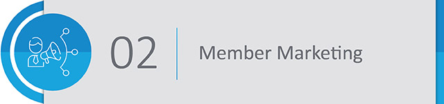 In addition to planning your event in order to cater to particular interest groups within your organization, be sure to market according to the member data in your database.
