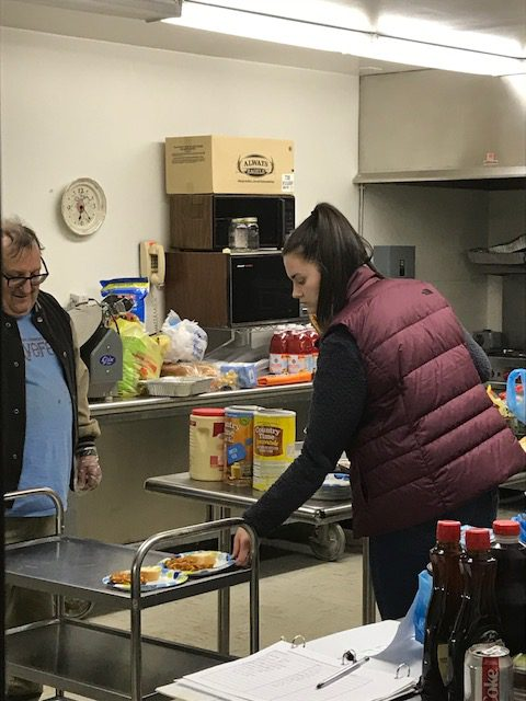 On Wednesday, December 19, 2018, I was able to volunteer two hours with the rotating homeless shelter through the Harford Community Action Agency, Inc. The agency oversees a temporary shelter that rotates between a number of churches providing emergency shelter for the displaced and homeless people in Harford County.  The day I went with Lisa, we helped to set up sleeping cots at Presbury United Methodist Church in Edgewood and then help later that night with check in and dinner.