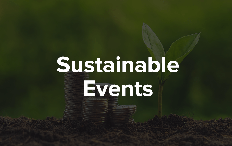 Sourcing food locally to setting up an eco-friendly and sustainable decor is more important than ever at corporate events.