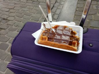 Tourist trap waffle, Brussels