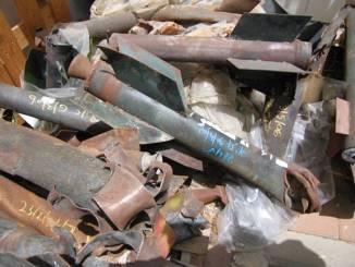 Restos de cohetes lanzados por Hamas contra territorio de Israel. Fuente HRW
