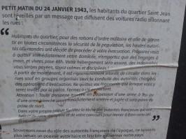 Affiche mémoire 7 - quartier Saint-Jean - Marseille 2e