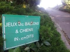 Jeux de ballons et chiens interdits - Le Pharo - Marseille 7e