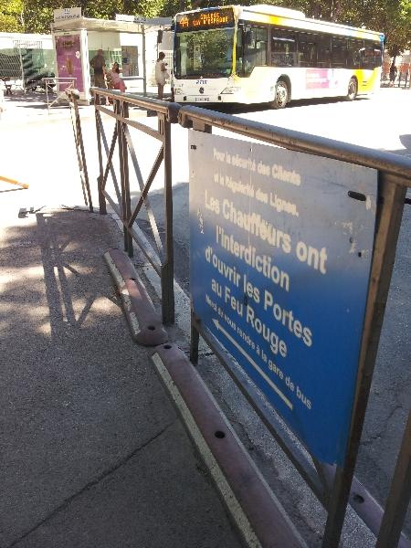 Interdiction en bus - Rond-point du Prado - Marseille 8e