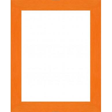 encadrement bois plat strie orange avec