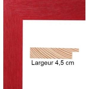 encadrement bois plat strie rouge avec