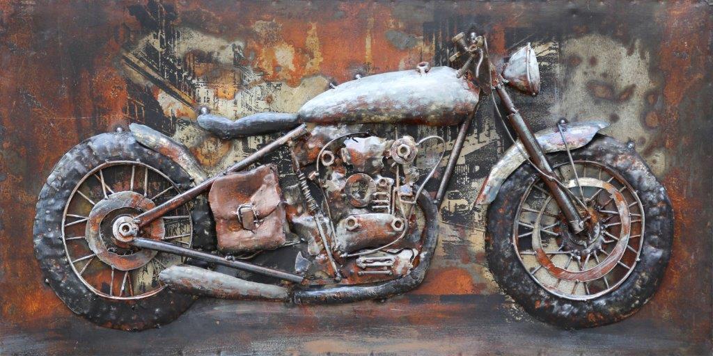 tableau metal old motor pour salon