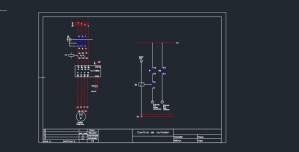 3Phase Motor Wiring Diagram Free DWG » CADSampleCom