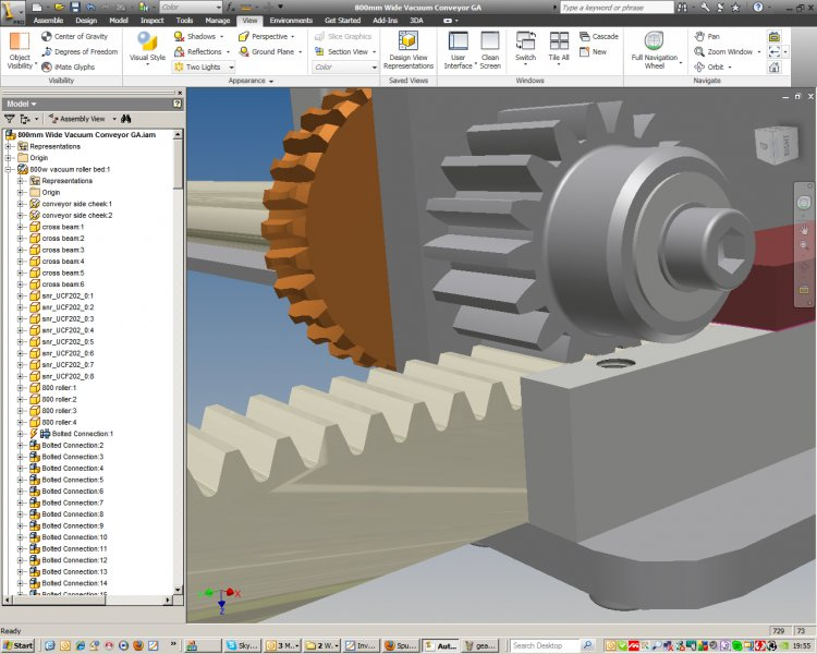 spur gear and rack autodesk inventor