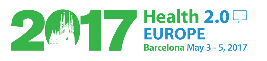 Logotipo de la 8th Health 2.0 Europe que tendrá lugar en Barcelona del 3 al 5 de mayo de 2017