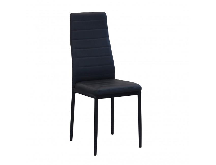 chaise mosca noire avec pieds en metal couleur noir
