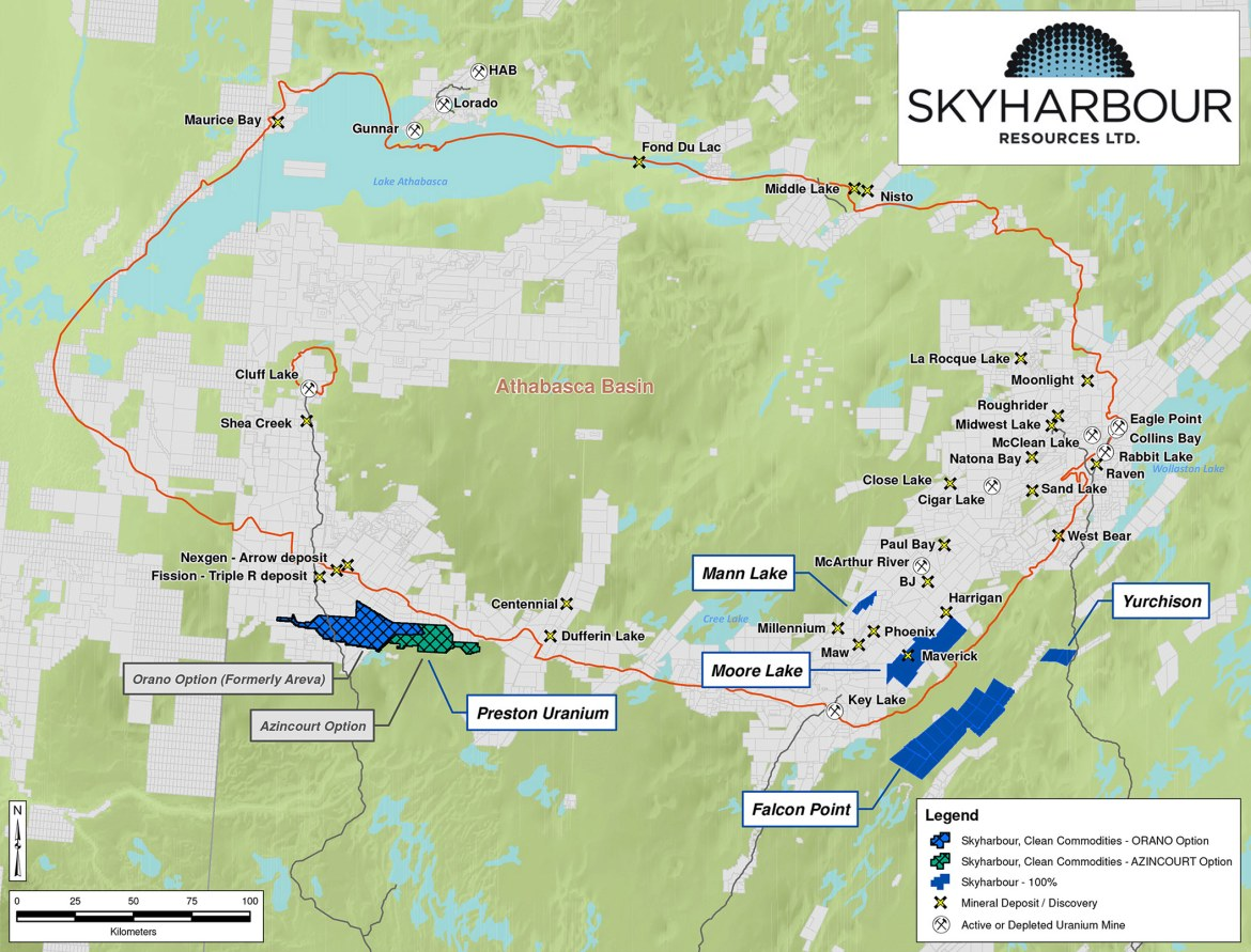 Skyharbour Resources Project Locations