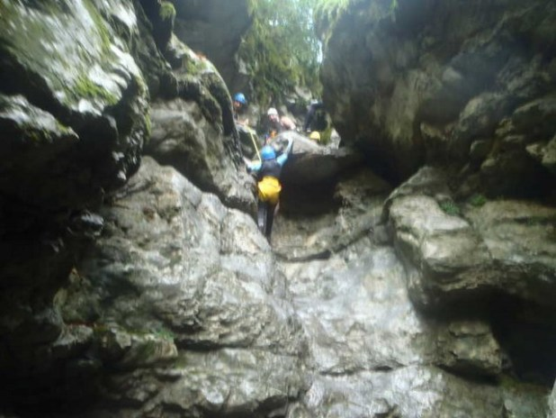 Sortie canyon avec les jeunes du club alpin de Bagnères-de-Bigorre
