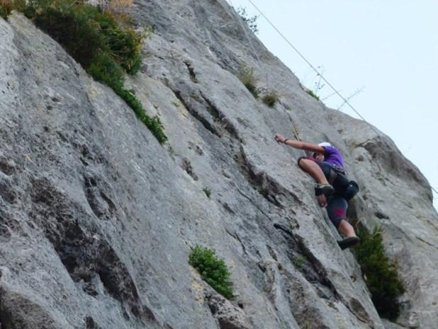 Sortie esclalade en falaise à Suberpène avec le club alpin de Bagnères-de-Bigorre