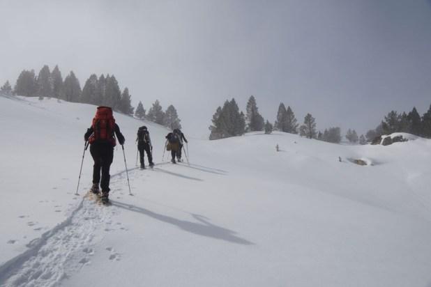 Randonnée en raquette du club alpin de Bagnères-de-Bigorre au refuge de Campana