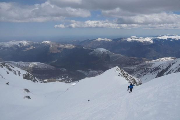 Randonnée en raquette du club alpin de Bagnères-de-Bigorre à la Soum de Coste Oueillères