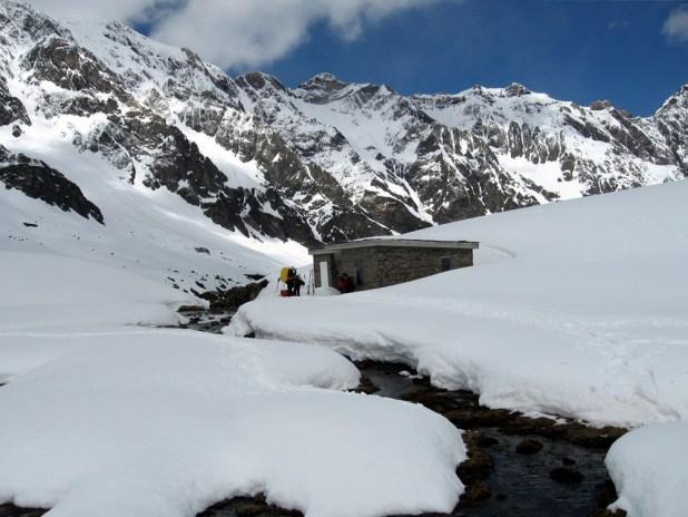Randonnée en raquette du club alpin de Bagnères-de-Bigorre à la Hourquette de Chermentas