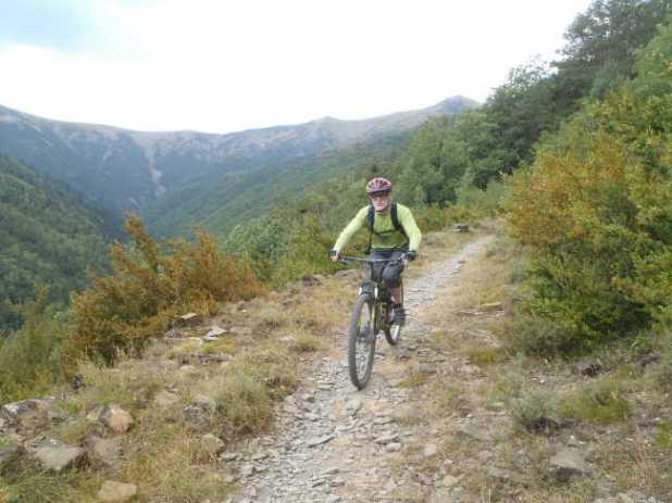 Sortie VTT Parcours N° 31 noir Yosa y Linas au départ du camping d'Oto du Club Alpin de Bagnères-de-Bigorre
