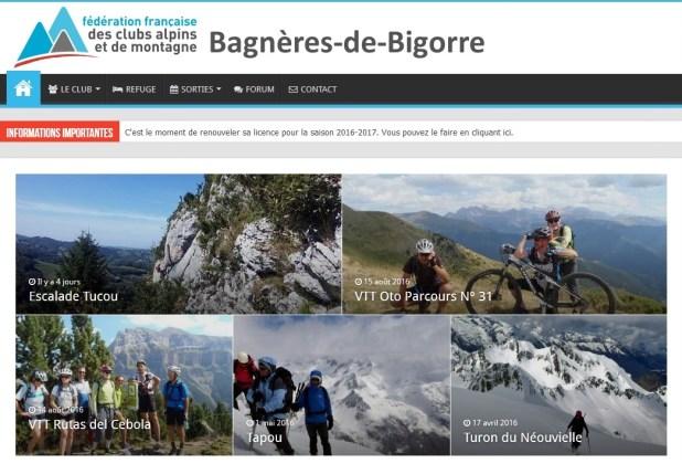Nouveau site web Club Alpin Bagnères de Bigorre