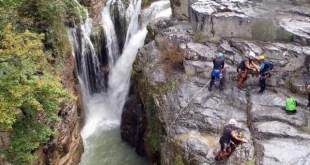 Sortie canyoning avec les jeunes du Club Alpin de Bagnères-de-Bigorre