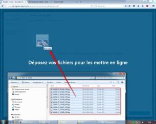 """On peut aussi cliquer sur le bouton """"Choisir des fichiers"""" et les ajouter de manière classique."""