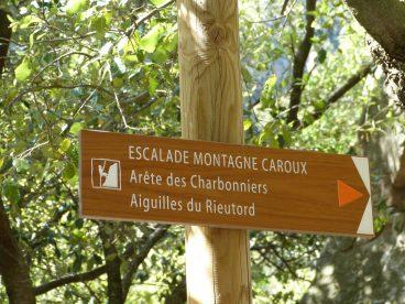 Le départ du sentier le ravin des Charbonniers