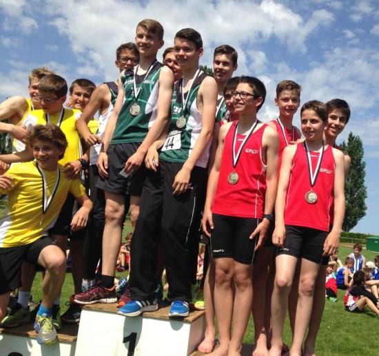 3e place de l'équipe U16 - relais 5 x 80m