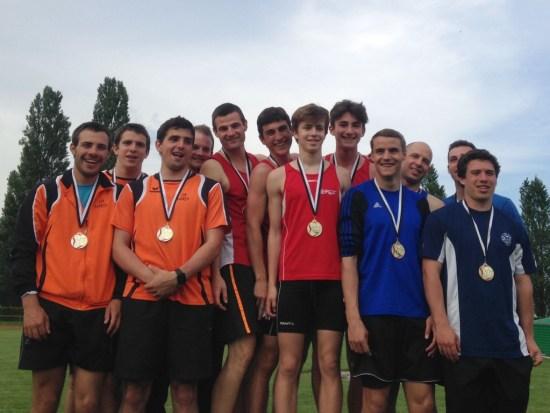 1e place de l'équipe homme - relais suédois