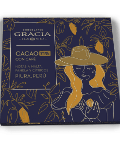 Barra 71% Cacao + Café - Chocolates Gracia
