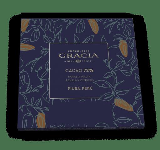 Reverso Barra 72% Cacao - Chocolates Gracia