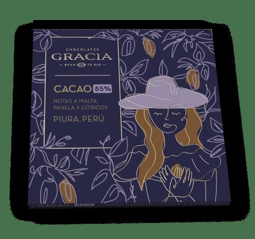 Barra 85% Cacao - Chocolates Gracia