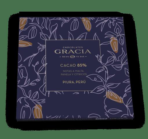 Reverso Barra 85% Cacao - Chocolates Gracia