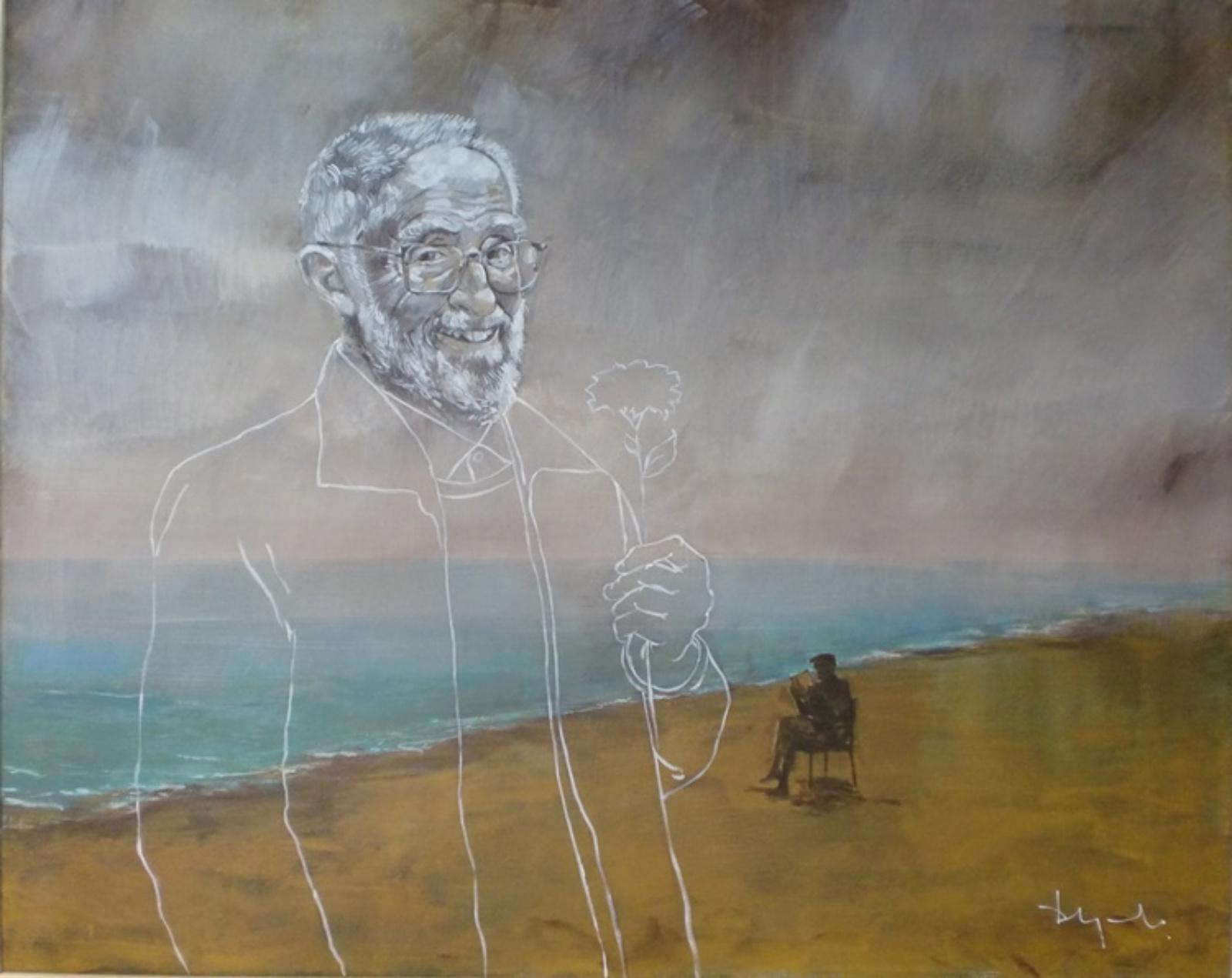Exposición en homenaje a jose Luis Sampedro. El mundo de las ideas es eterno, tan solo un gesto hará que aflore un pensamiento.