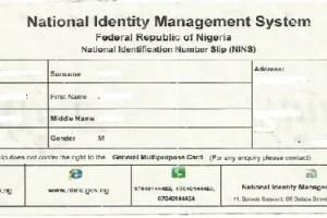 NATIONAL IDENTITY NUMBER(NIN)