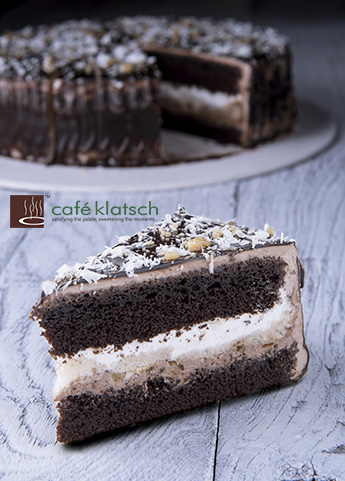 image of rich chocolate vanila cake