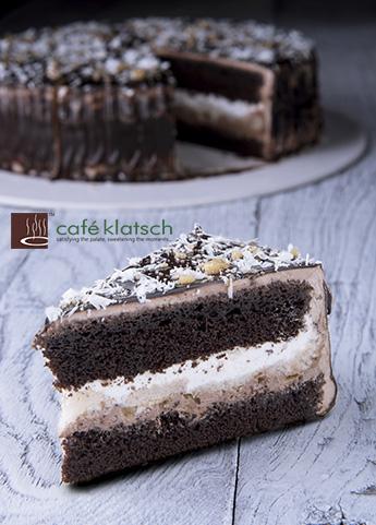image of rich chocolate vanila cake