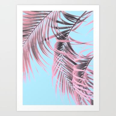 Delicate Pink Palms