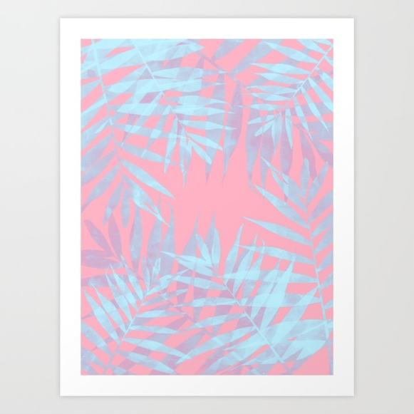 Pink and Blue Tropicana