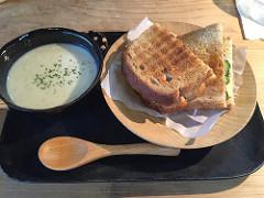 牛蒡にクリームスープ、スープセット