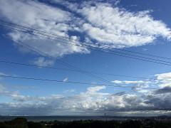 台風が去って青空が