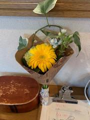 オッドにお花を頂きました
