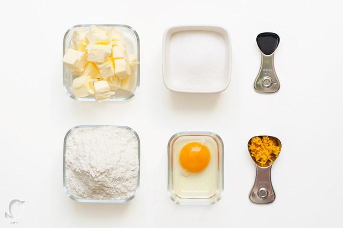galletas de naranja: ingredientes