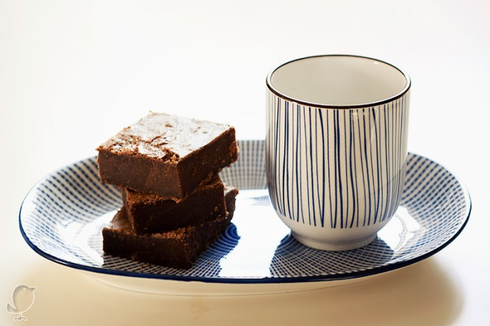 Brownie de café de avellana y chocolate