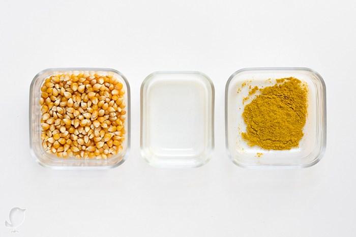 Palomitas con curry: ingredientes